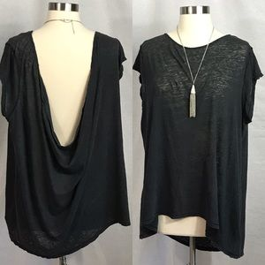 EUC✨FREE PEOPLE Charcoal Loose Top Small